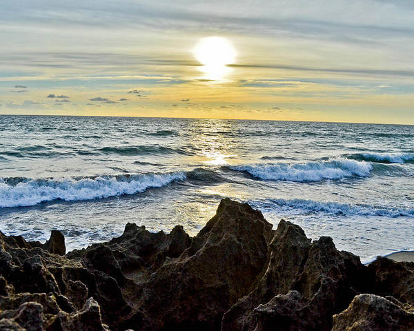 Sun Poster featuring the photograph Rocky Sunrise by Julio n Brenda JnB