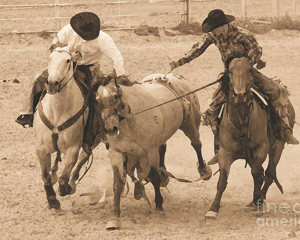 Rodeo Poster featuring the photograph Rodeo Action by Carole Martinez