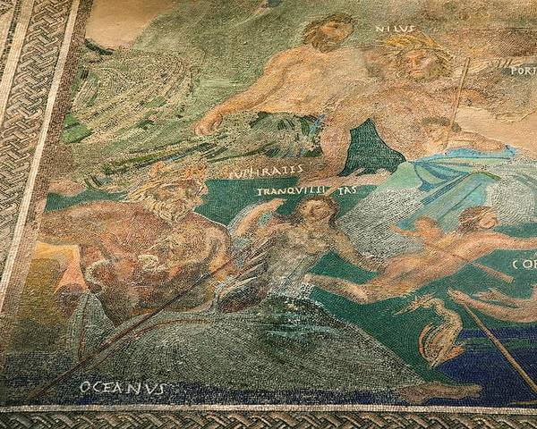 Roman Cosmology Poster featuring the photograph Roman Cosmological Mosaic by Sheila Terry