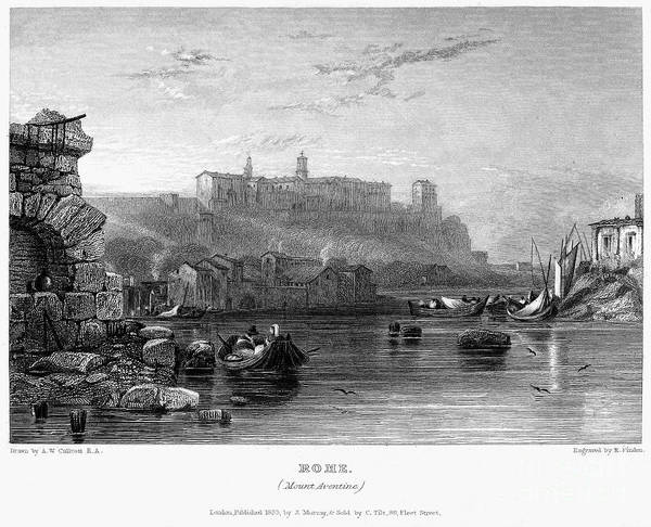 1833 Poster featuring the photograph Rome: Aventine Hill, 1833 by Granger
