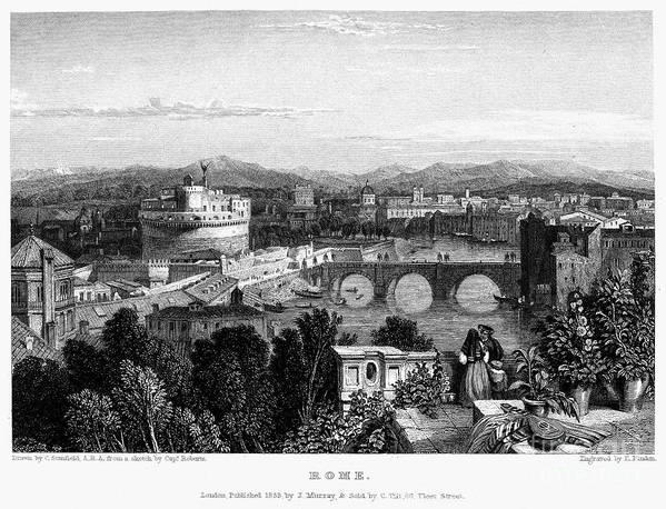1833 Poster featuring the photograph Rome: Scenic View, 1833 by Granger
