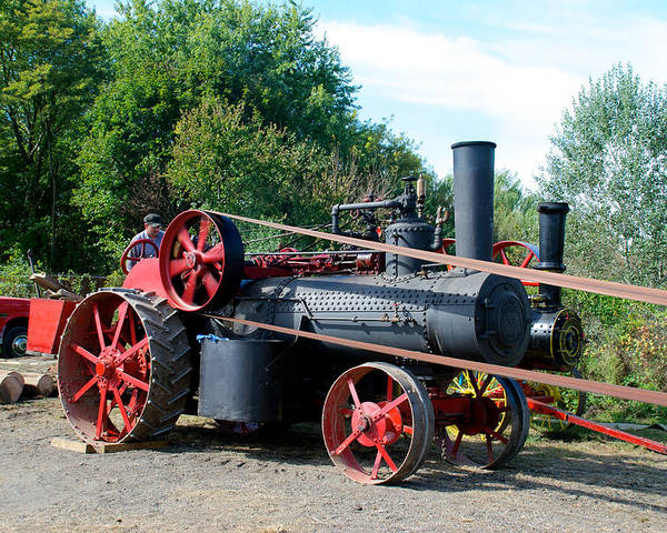 Arcadia Volunteer Fire Company Poster featuring the photograph Romley Powering The Saw by Mark Dodd