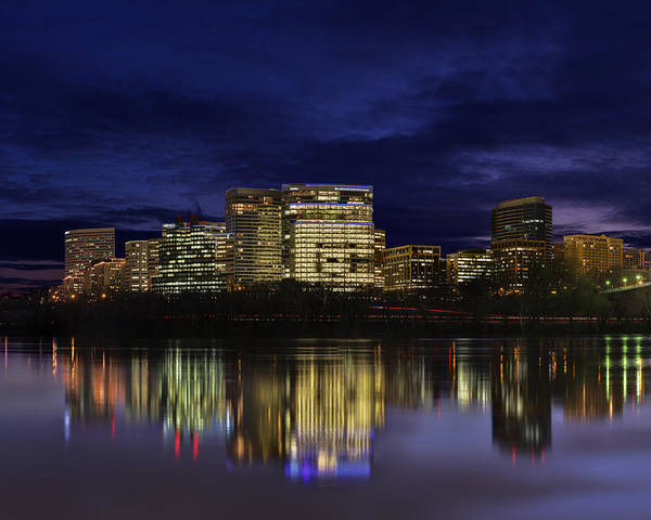 Skyline Poster featuring the photograph Rosslyn Skyline by Metro DC Photography
