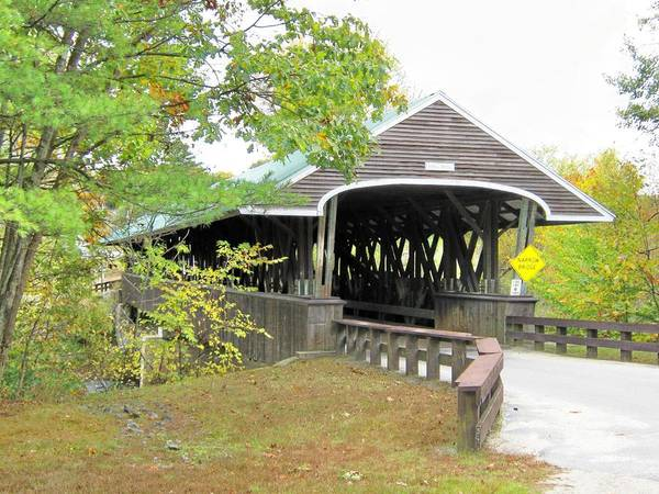 Nh Poster featuring the photograph Rowell Covered Bridge by Wayne Toutaint