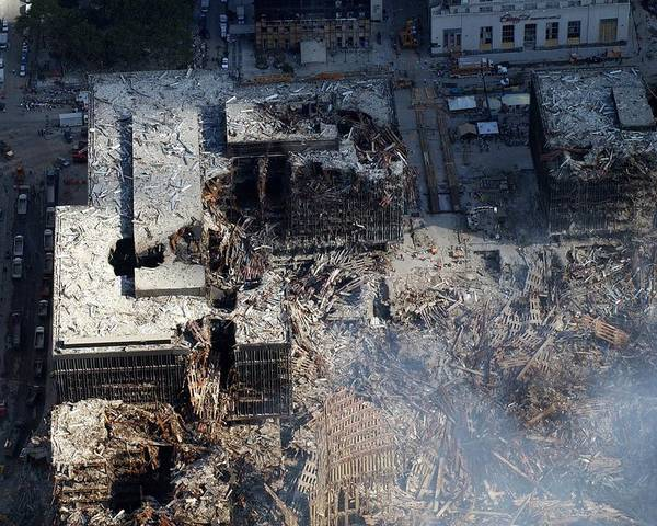 2000s Poster featuring the photograph Ruins Of The Collapsed World Trade by Everett