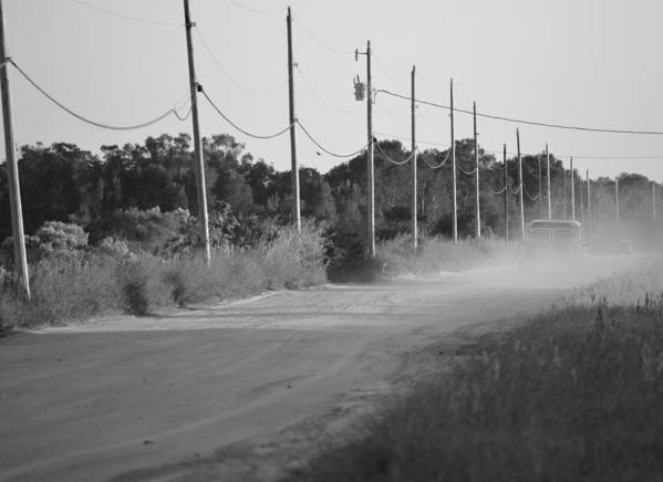 Rural Poster featuring the photograph Rural Dirt Road In Black And White by Ronald T Williams