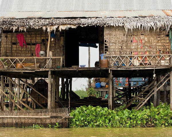 Asia Poster featuring the photograph Rural Fishermen Houses In Cambodia by Artur Bogacki