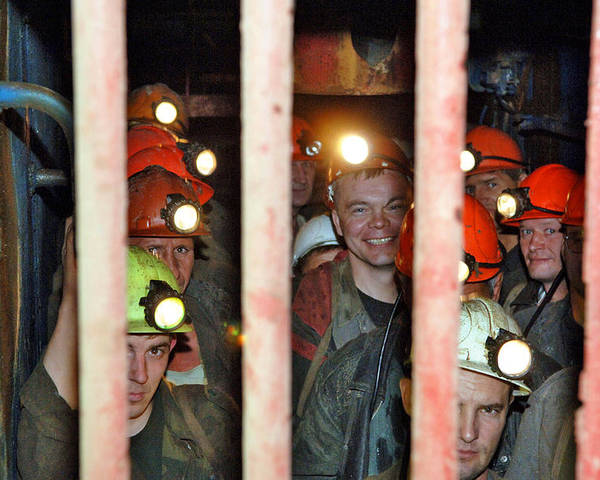 Human Poster featuring the photograph Russian Miners by Ria Novosti