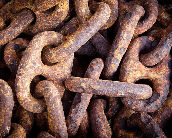 Keys Poster featuring the photograph Rusty Anchor Chains In Key West by Adam Pender