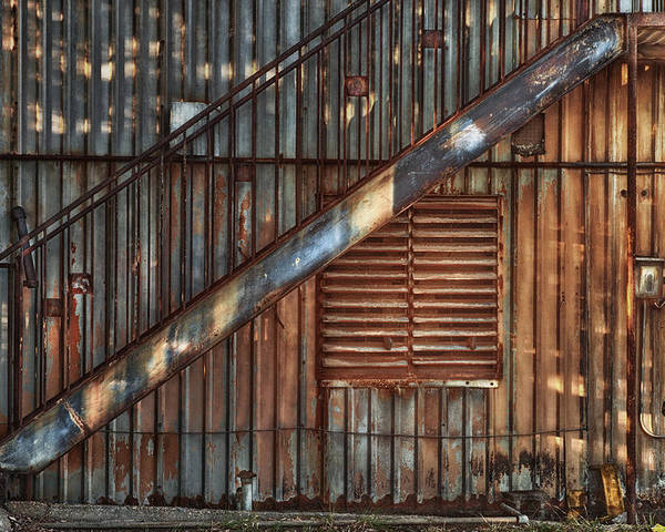 Stairs Poster featuring the photograph Rusty Stairway by Brenda Bryant