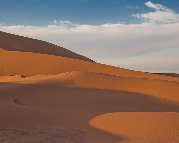 Sahara Poster featuring the photograph Sahara Sanddunes by Leo Keijzer