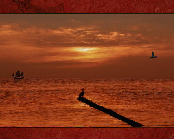 Sunset Poster featuring the photograph Sailing Into The Sunset by Tom York Images
