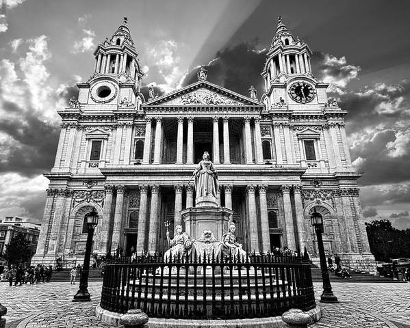 Cathedral Poster featuring the photograph Saint Paul's Cathedral by Meirion Matthias