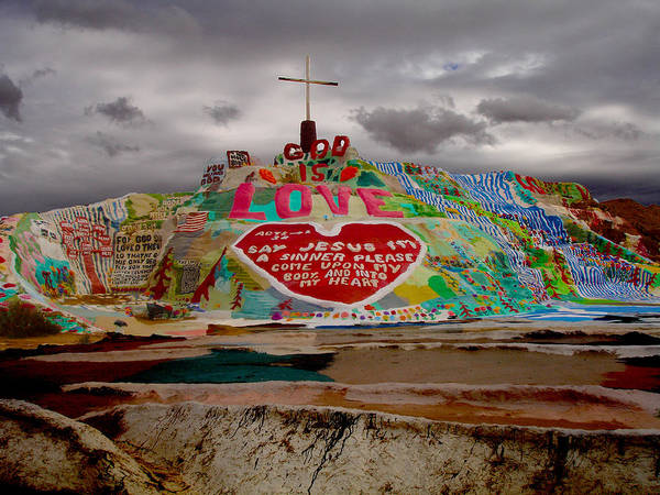 Salvation Mountain Poster featuring the photograph Salvation Mountain by Melisa Fretwell
