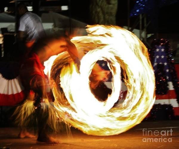 Samoan Poster featuring the photograph Samoan Fire Dancer by Craig Wood