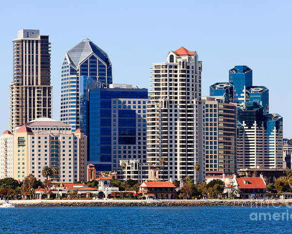 2012 Poster featuring the photograph San Diego Skyline Photo by Paul Velgos