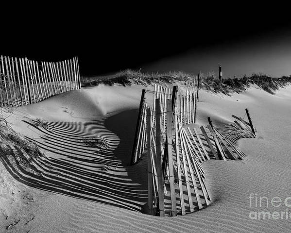Beach Landscape Poster featuring the photograph Sand Fence by Jim Dohms