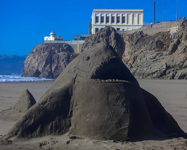 Shark Poster featuring the photograph Sand Shark At Cliff House by Garry Gay