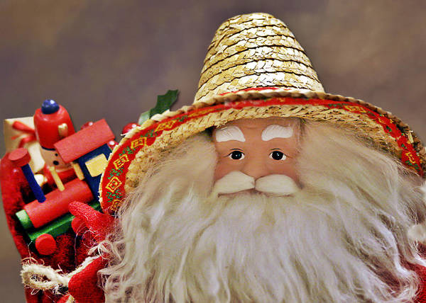Santa Claus Poster featuring the photograph Santa Is A Gardener by Christine Till