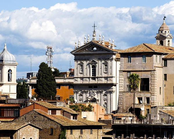 Rome Poster featuring the photograph Santi Domenico E Sisto by Fabrizio Troiani