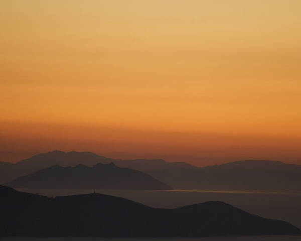 No People Poster featuring the photograph Santo Stefano Coastline At Sunset by Axiom Photographic