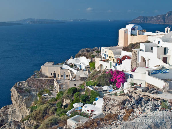 Outdoors Poster featuring the photograph Santorini Lifestyle by Jim Chamberlain