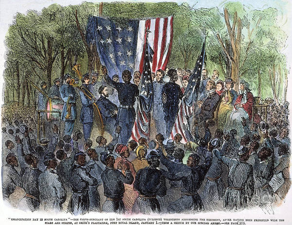 1863 Poster featuring the photograph Sc: Emancipation, 1863 by Granger