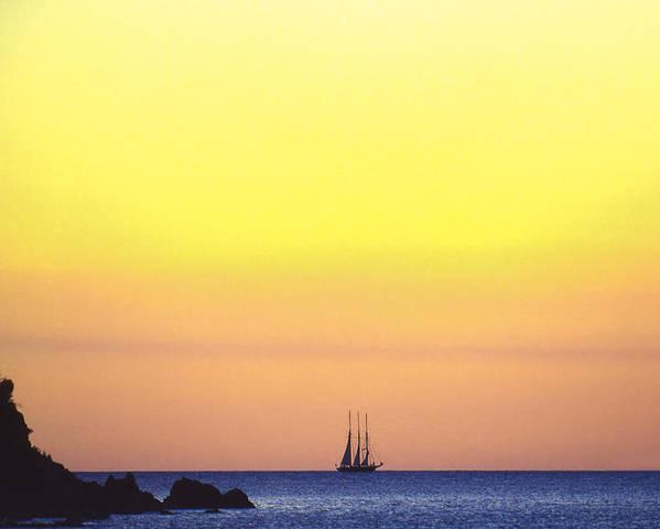 St. John Poster featuring the photograph Schooner Virgin Islands by Boyd Norton
