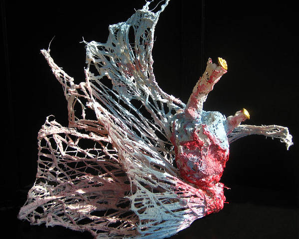Heart Poster featuring the sculpture Sea Creature 1 by Kyle Ethan Fischer