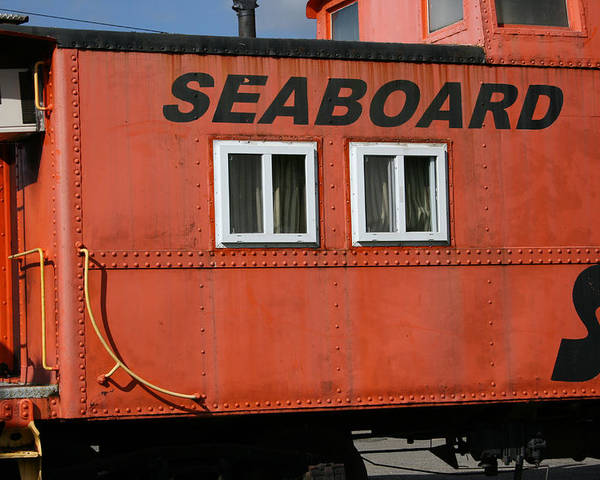 Caboose Poster featuring the photograph Seabord by Tila Gun