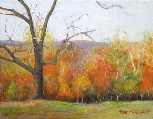 Trees Poster featuring the painting Seasons Pass by Max Mckenzie