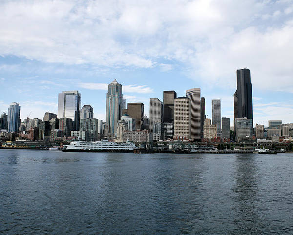 Seattle Skyline Poster featuring the photograph Seattle From The Water by Keri Thibeau