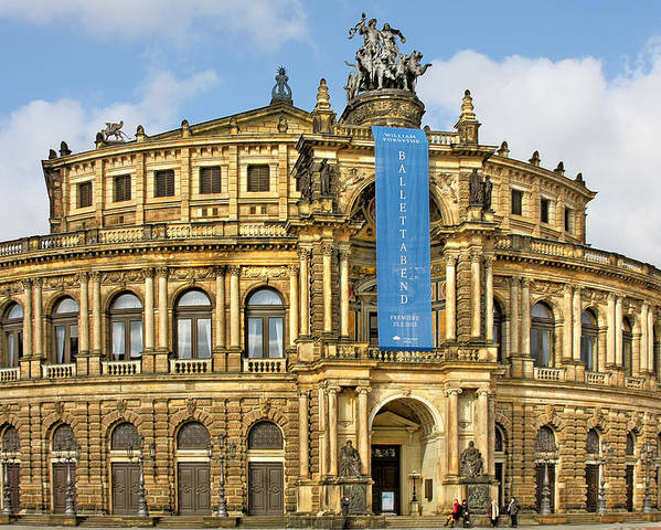 Semperoper Poster featuring the photograph Semper Opera House Dresden by Christine Till