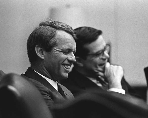 History Poster featuring the photograph Sen. Robert Kennedy And Ted Sorenson by Everett