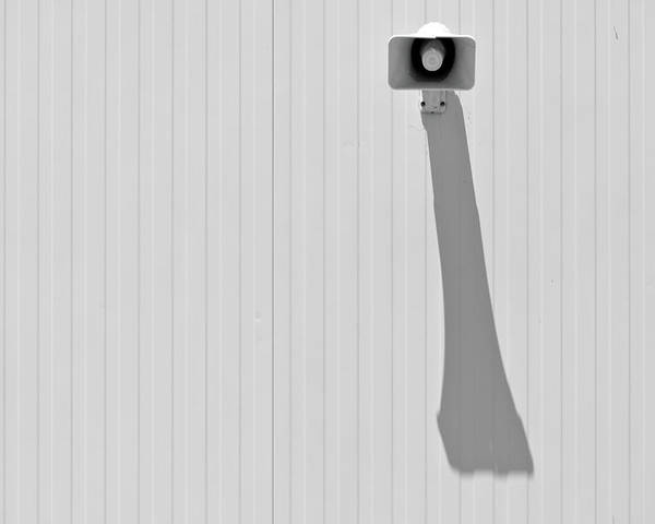 Horizontal Poster featuring the photograph Shadow Of Speaker by Daniel Kulinski