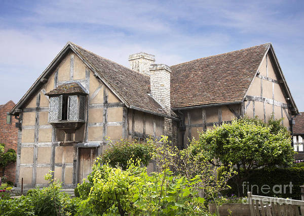 Architecture Poster featuring the photograph Shakespeare's Birthplace. by Jane Rix