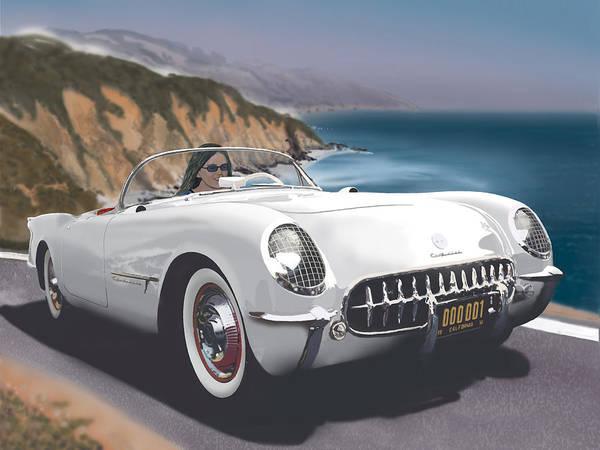 Corvette Poster featuring the digital art Show Off by Richard Herron
