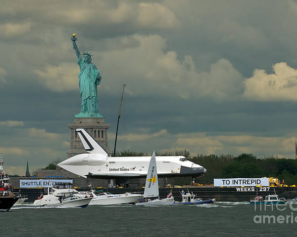 Space Shuttle Poster featuring the photograph Shuttle Enterprise 3 by Tom Callan
