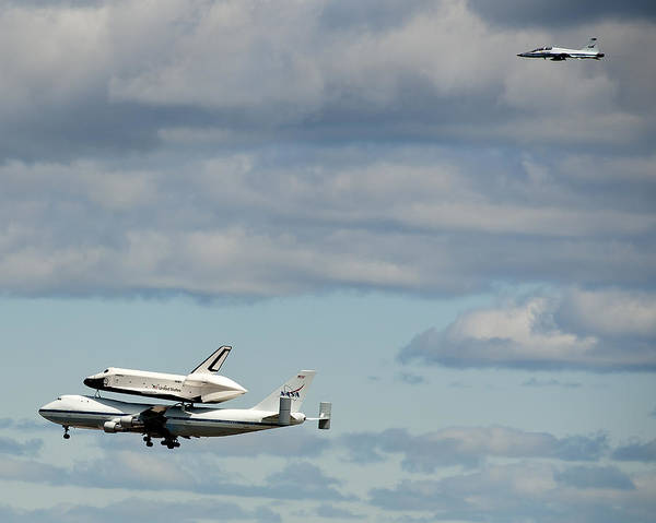 Shuttle Enterprise Poster featuring the photograph Shuttle Enterprise And Escort by Roni Chastain