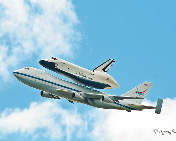 Enterprise Poster featuring the photograph Shuttle Enterprise Comes To Ny by Regina Geoghan