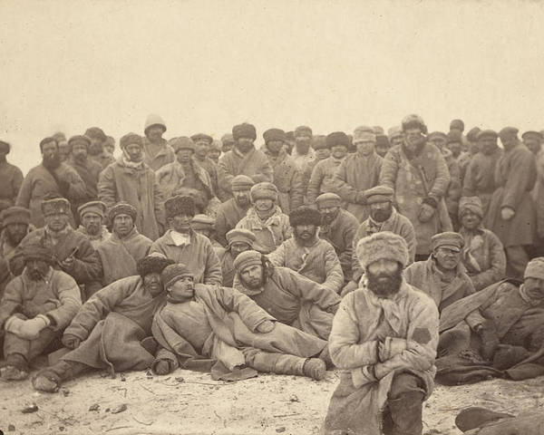 1880s Poster featuring the photograph Siberia, A Group Of Hard-labor by Everett