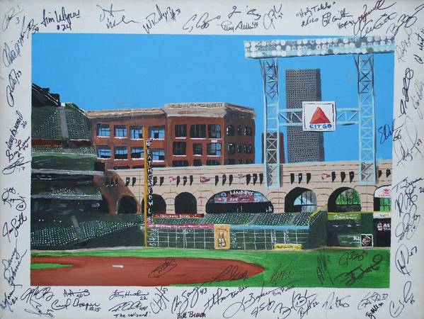 Autographed Poster featuring the painting Signed Minute Maid by Leo Artist