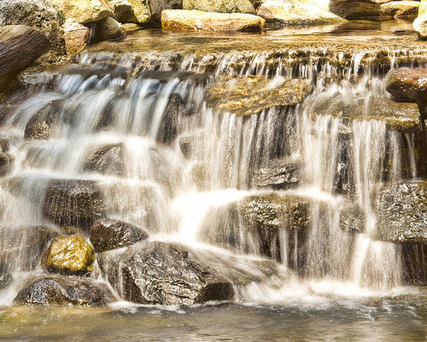 Waterfall Poster featuring the photograph Simple Yet Powerful Waterfall by Daphne Sampson