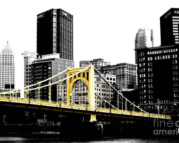 Bridge Poster featuring the photograph Sister #2 In Pittsburgh by Paul Henry