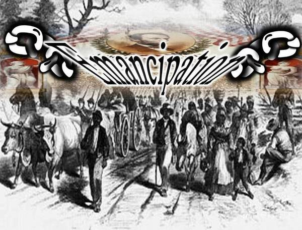 Black History Poster featuring the digital art Slaves Traveling To Freedom Land by Belinda Threeths