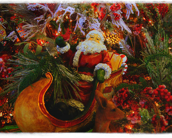 Santa Claus Poster featuring the photograph Sleigh Ride by Toni Hopper