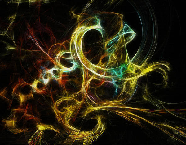 Fractal Poster featuring the digital art Smoke Rings by Nafets Nuarb