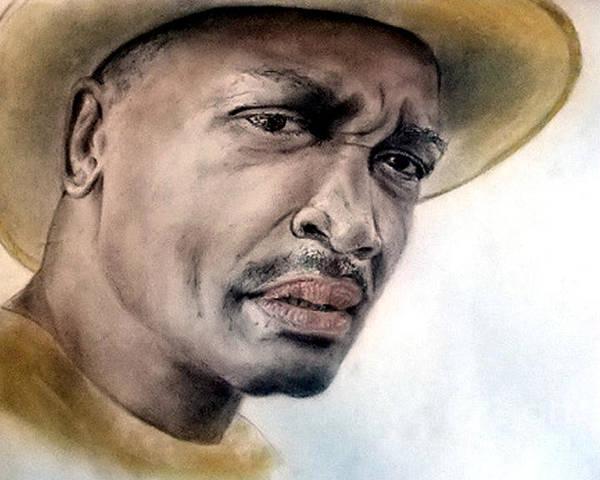 Smokin Joe Frazier Poster featuring the drawing Smokin Joe Frazier by Jim Fitzpatrick