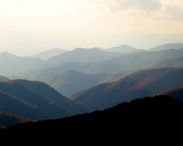 Great Smoky Mountains Poster featuring the photograph Smoky Mountain Overlook Great Smoky Mountains by Rich Franco