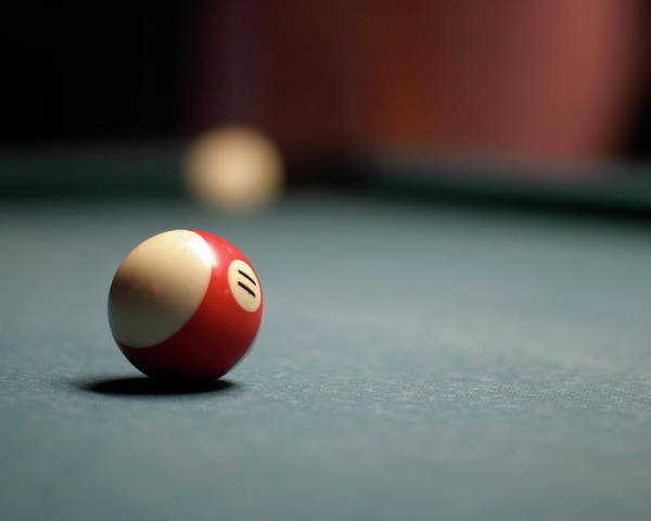Horizontal Poster featuring the photograph Snooker Ball by Photo by Andrew B. Wertheimer